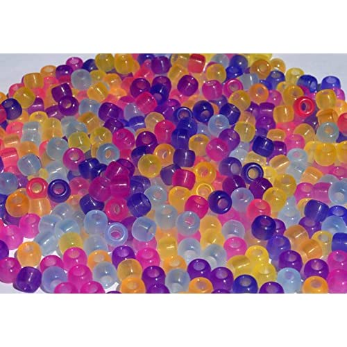 50Pcs UV Beads Color Changing Plastic Sunlight Reactive Beads for Jewelry Making