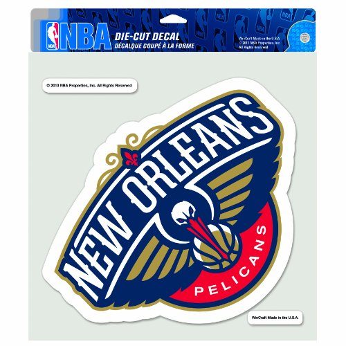 WinCraft NBA New Orleans Pelicans Die Cut Colored Decal, 8 x 8-Inch by WinCraft