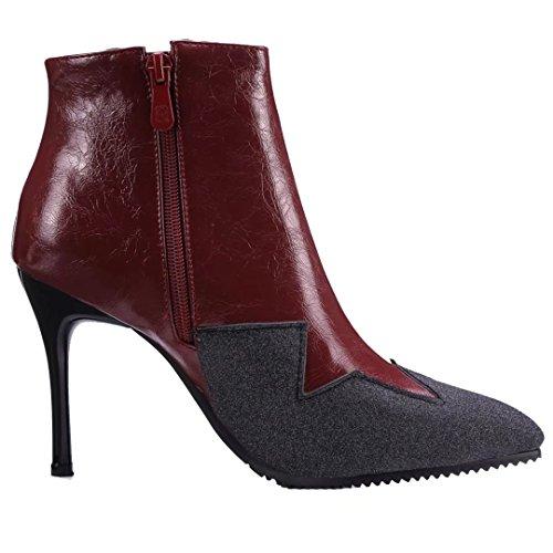 Weinrot Classic Weinrot AIYOUMEI Damen AIYOUMEI Boot Classic Damen Boot BqnOwHSx47