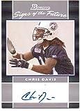 Chris Davis 2007 Bowman Signs of the Future Rookie Autograph #SF-CD - Tennesee Titans
