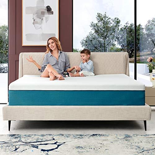 Queen Mattress Iyee Nature 10 Inch Cooling Gel Memory Foam Mattress In A Box Foam Bed Mattress With Certipur Us Certified Medium Firm Foam Mattress For Sleep Supportive Pressure Relief