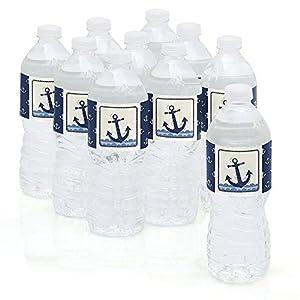 Amazon.com: Ahoy - Nautical - Party Water Bottle Sticker Labels ...