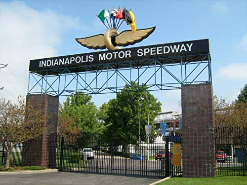 Home Comforts Peel-n-Stick Poster of Indianapolis Indiana Motor Speedway Indy 500 Vivid Imagery Poster 24 x 16 Adhesive Sticker Poster Print