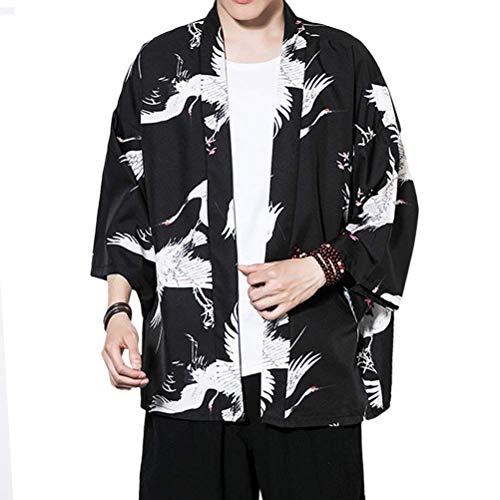 Estiva Uomo Stile In Hx Taglie Black Kimono Casual Hippie Abiti Giapponese Comode Vestiti Cinese White Fashion Kimono Giacca Uomo Con Da OIEr1Enq