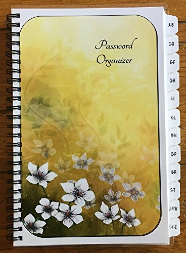 Flowers Address Book (Large Print Password Book Internet Address Book A-Z Tabs White Flowers Personalized Gifts)