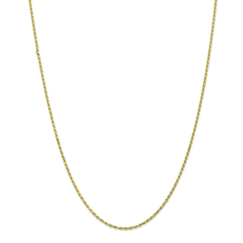 10k 2mm Machine Made Diamond Cut Rope Chain, 10 kt Yellow Gold, 9 inch