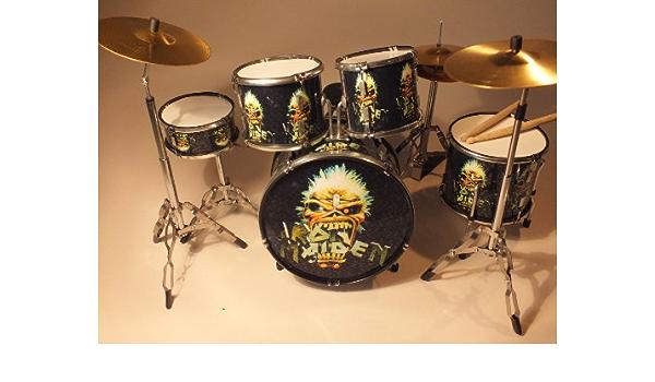 RGM350 Iron Maiden Drum Kit de batería en Miniatura: Amazon.es: Electrónica