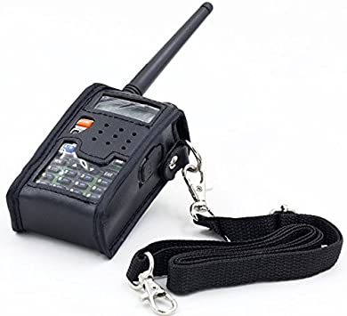 WOVELOT Cubierta Funda Suave de Cuero de Walkie Talkie para BAOFENG UV 5R Radio de Vapor portatil UV-5R UV-5RA Plus UV-5RE Plus UV-5RB Ronson UV-8R: Amazon.es: Electrónica