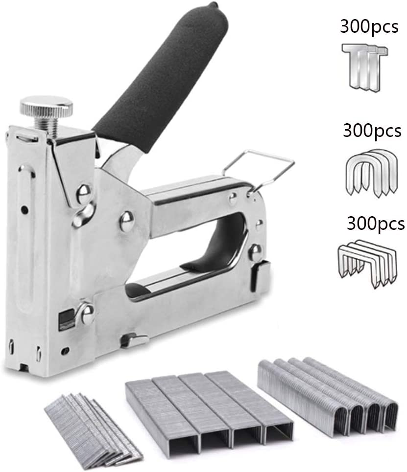 Amazon Com Staples Upholstery 3 In 1 Heavy Duty Staple Nail Steel Gun Kit With 900 Staples For Decoration Carpentry Furniture Doors And Windows Upholstery Stapler Home Improvement