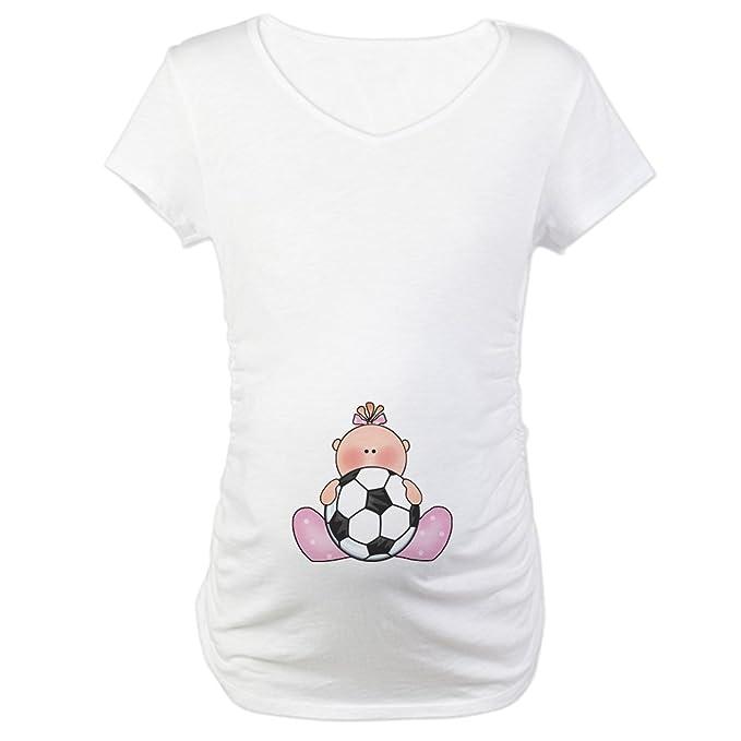3e0f3547f CafePress Lil Soccer Baby Girl Maternity T-Shirt Cotton Maternity T-shirt,  Cute