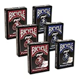 Cards Bicycle Pro Poker Peek - 6 PACK (Mixed)