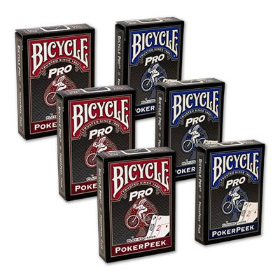 Cards Bicycle Pro Poker Peek - 6 PACK (Mixed) by Bicycle