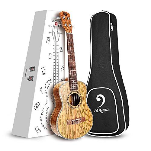 "Vangoa - UK-21Z Soprano 21"" inches Acoustic Ukulele in Zebra Wood with Nylon Strap, Pick, Pick Container, Carry Bag, Tuner, Kazoo, Backup Strings, Finger Shaker - Image 6"