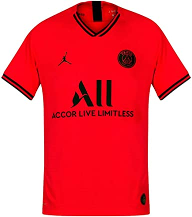Amazon Com Nike Men S Paris Saint Germain Psg X Jordan 2019 20 Authentic Match Away Soccer Jersey Infrared Clothing
