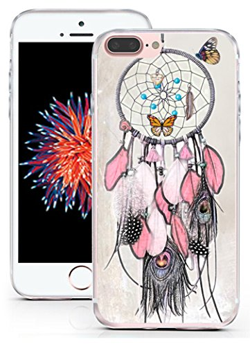 Case for iPhone 8 Plus Dreamcatcher - CCLOT Flexible Cover Protector Compatible for iPhone 7 Plus & 8 Plus Beautiful Dream Catcher Theme Design (TPU Protective Silicone Bumper Skin)