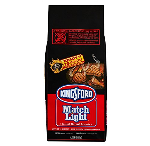 Kingsford Match Light Charcoal Briquets, Two 6.2 lb Bags