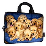 ICOLOR 14 15 15.4 15.6 inch chromebook case Cover Bag Boys Laptop Handle Bag Computer Protect Case Pouch Holder Notebook Sleeve Neoprene Cover Soft Carrying Travel Case Cute Dog ICB-13