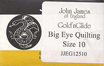 Size 11 10//Pkg Goldn Glide Big Eye Quilting Needles