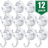 Tools & Hardware : AROIC Suction Cup Hook, Movable Heavy-Duty Vacuum Suction Cup, with a Maximum Load of 6.6 Pounds, Adsorbed in Windows, Kitchens and Bathrooms, Hanging Towels, Clothing, etc. - 12 PCS