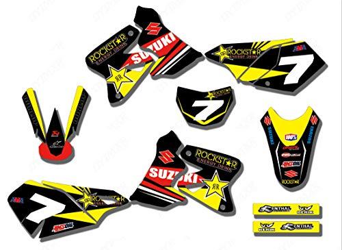 3M Customized Motorcycle Motocross Bike Graphics Stickers Background Decals for All Year Suzuki DRZ400 DRZ400S DRZ400E DRZ400SM DRZ 400 (TZ-DRZ400-16)