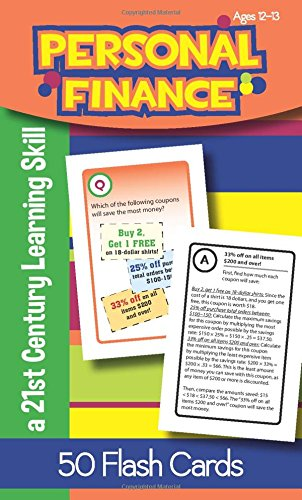 Personal Finance for Ages 12-13 Flash Cards