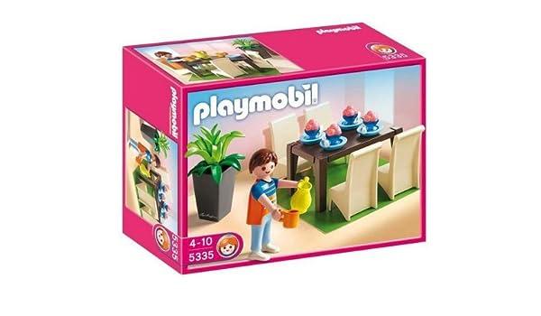 PLAYMOBIL 5335 - Comedor + 5330 -Cuarto de baño con bañera y mampara de ducha + 4288 Lavandería + 4283 Cocina: Amazon.es: Electrónica