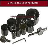General tools WOOD HOLE SAW SET 11PCS