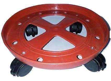 Shardagoods Gas Cylinder Trolley with Wheels|Gas Trolly|Lpg Cylinder Stand (Heavy Plastic)