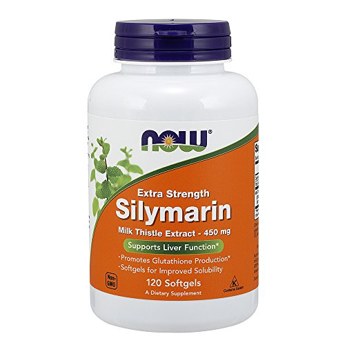 NOW Extra Strength Silymarin Milk Thistle Extract, 450 mg, 120 Softgels