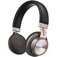 Bluetooth Headphones, MindKoo Bluetooth 4.1 On-Ear Headphone HiFi Stereo Sound with Soft Memory-Protein Cushions, Built-in Mic, Wired and Wireless Mode for iPhone, iPad, Smartphones and More