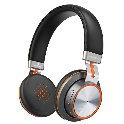 Bluetooth Headphones, MindKoo Wireless Headphones On-Ear Headset, HiFi Sound Earphones with Soft Memory-Protein Cushions, Built-in Mic, Wired and Wireless Mode for iPhone, iPad, Smartphones and More