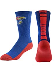 NCAA Kansas Jayhawks Kids Champ Performance Crew Socks, Blue