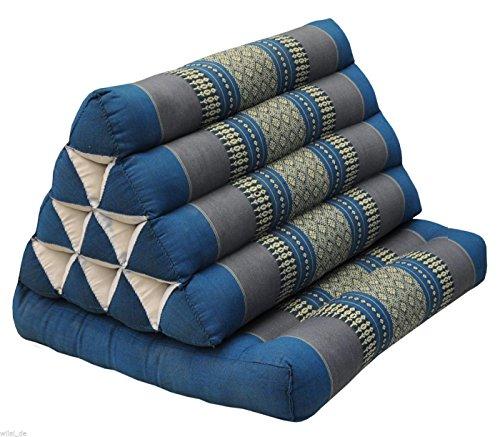 Tungyashop@thai Traditional Cushion 67x21x3 Inches Kapok Mattress (Sky Blue, 1 Fold) by Thai