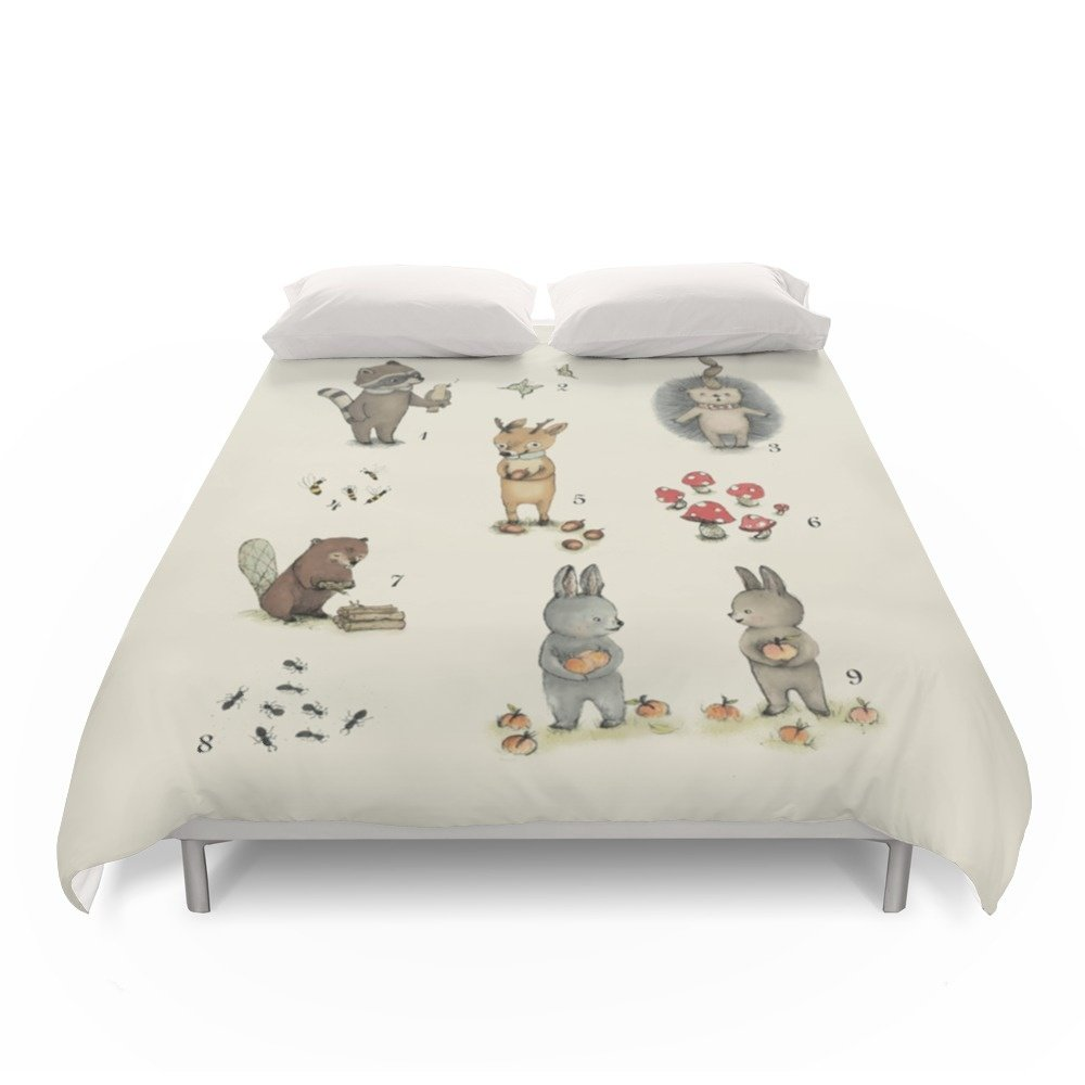 Society6 Numbers, Animals And Numbers. Duvet Covers Full: 79'' x 79''