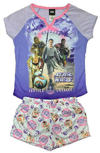 (Star Wars The Force Awakens Little Girls Short Pajama Set (S)