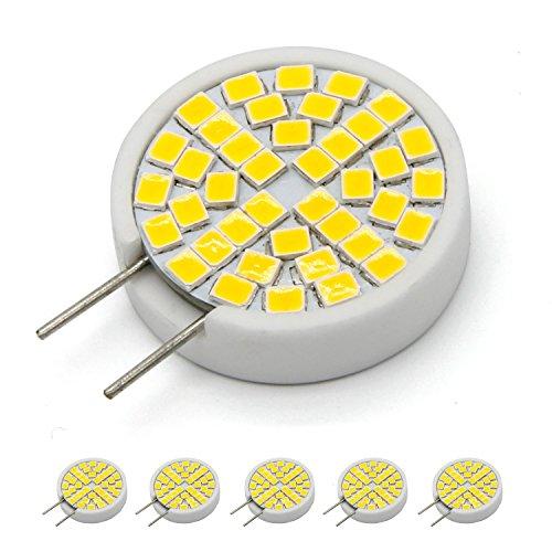 (G8 LED Bulb 3W to 4W, T4 G8 Base Bi-pin LED Halogen Replacement Bulb for Under Counter Kitchen Lighting,AC110V-130V Warm White 3000K (Pack of 5))