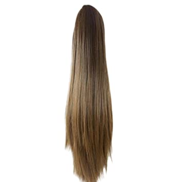 Byste-Women Wig Women Fashion Claw Clip Long Straight Ponytail Hair  Extensions Wig Hairpiece ( 5e67e4cc1