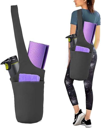MoKo Bolsa de Esterilla de Yoga Se Adapta a la Mayor/ía de Las Esteras Tama/ño Bolsillos de Colchoneta de Yoga Bolsillos de Almacenamiento para Mujeres y Hombres