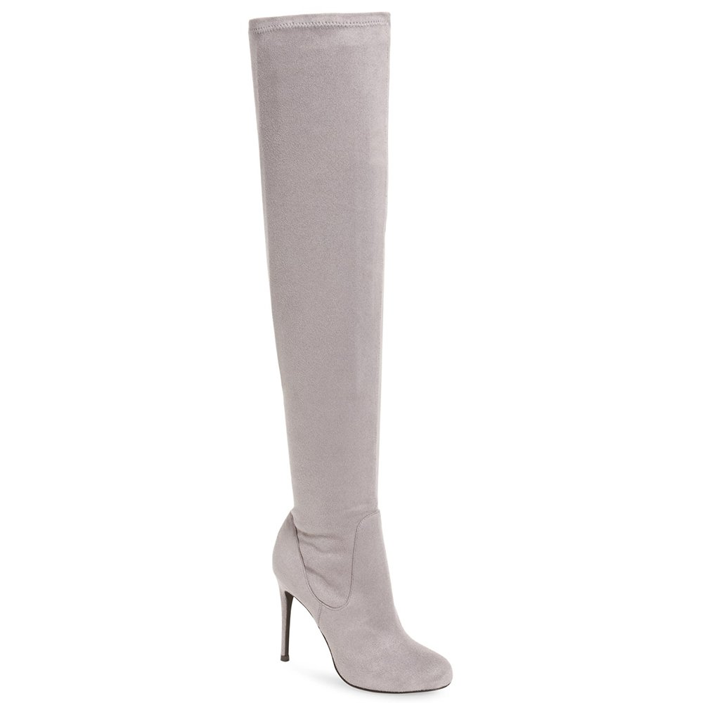 Charles by Charles David Women's Lyssa Over the Knee Boot,Stone Grey Sueded Stre