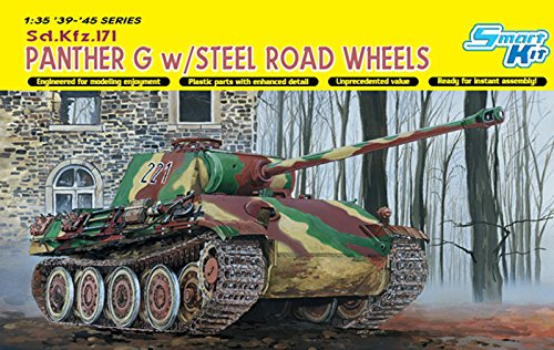 DR6370 1/35 WW.II German Panther G type w / steel track roller by Platz
