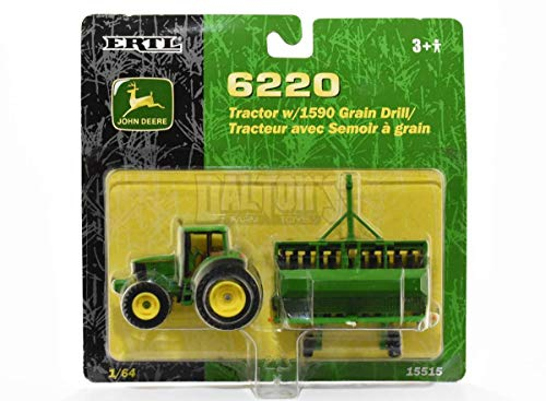 John Deere 1:64 6220 Tractor W/ 1590 Grain - Drill Deere John Grain