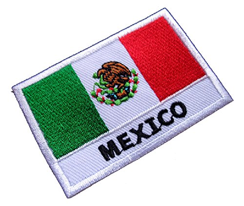 United Mexican States Mexico National Flag Sew on Patch Free Shipping