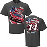 Clint Bowyer Haas Racing Patriotic NASCAR Men's T-Shirt - Charcoal (X-Large)