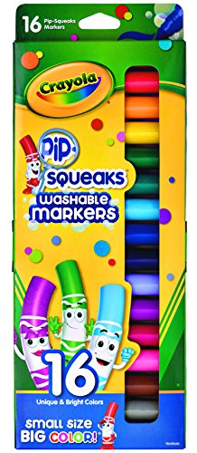 Crayola Pip-Squeaks Washable Markers, 16 count, Great for Home or School, Perfect Art Tools