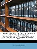 Address of the Hon Chauncey M Depew, Ll D, Chauncey M. Depew, 1145823890