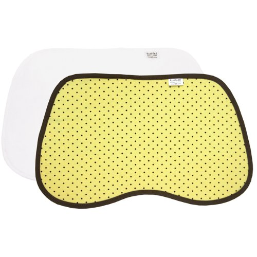 Kushies Burp Pads, Yellow Dots, 2-Count