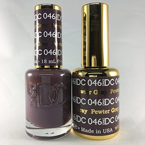 (DND DC Duo Gel + Polish - 046 Pewter)