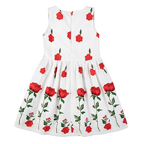 Girls' Birds Cartoon Years Printed Summer Baby Dress Weixinbuy Sleeveless 3 Printed 1 4 Chiffon fHSR5wnx5q