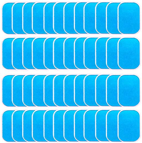 LEKEONE 50 Pcs/25 Packs Pads Abs Trainer Replacement Gel Sheet for EMS AB Trainer, Waist Trimmer Belt, ABS Toner Body Muscle Trainer.… 1