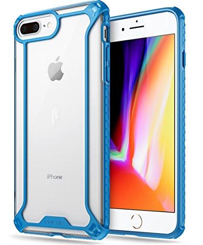 iPhone 7 Plus/iPhone 8 Plus Case, POETIC Affinity Series Premium Thin/No Bulk/Clear/Dual Material Protective Bumper Case for Apple iPhone 7 Plus (2016) / iPhone 8 Plus (2017) Blue/Clear